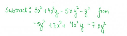 Subtract Poly